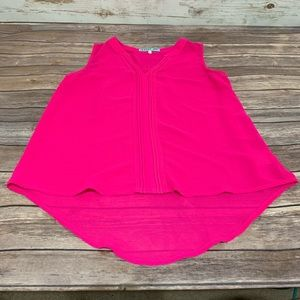 Francesca's Dina Be Pink Sleeveless Blouse Tunic